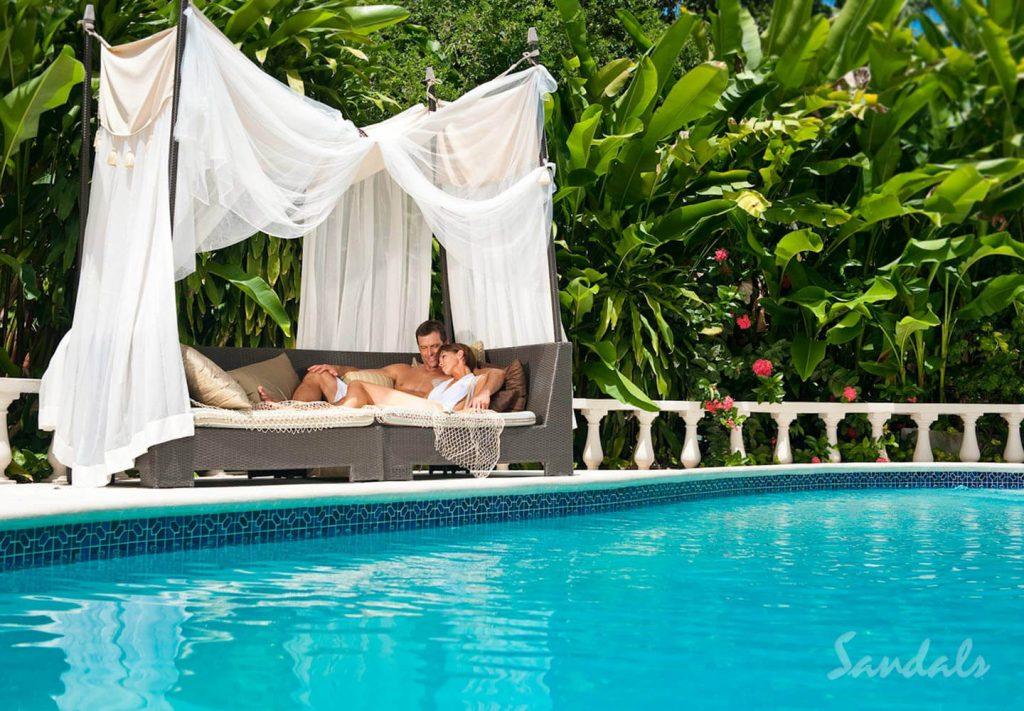Private Cabana at Sandals Resorts